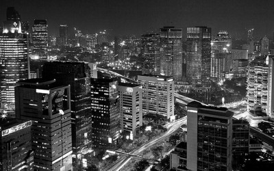 Sudirman in black and white