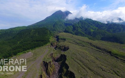 Merapi with drone