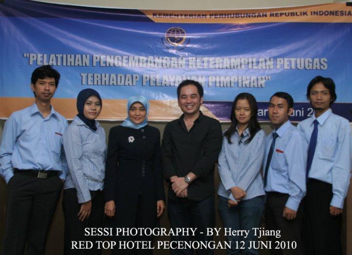 Workshop dan pembicara fotografi di Kementrian Perhubungan