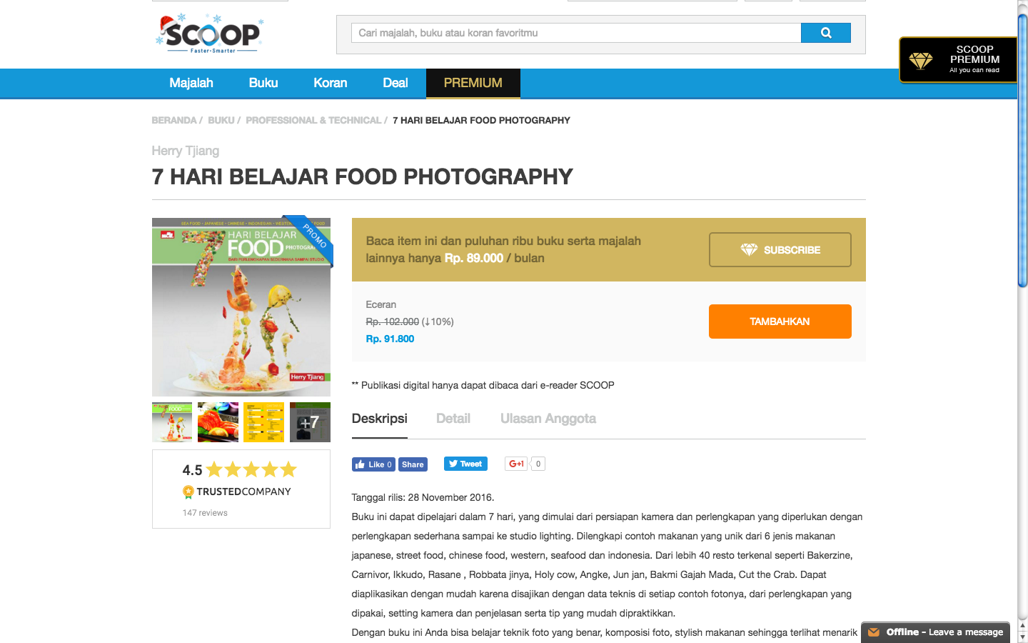 e-book 7 hari belajar food photography