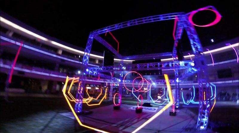 night drone race pertama