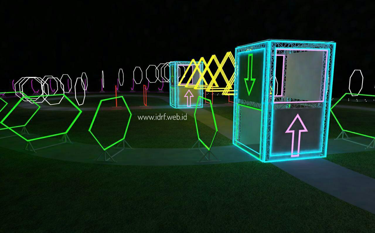 night drone race