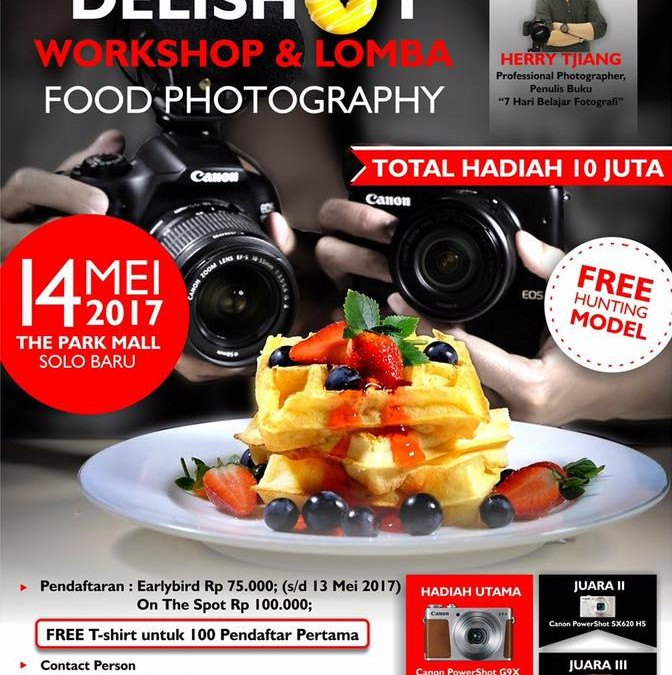 Workshop Food Photography – Solo 14 Mei 201 7 – Herry Tjiang