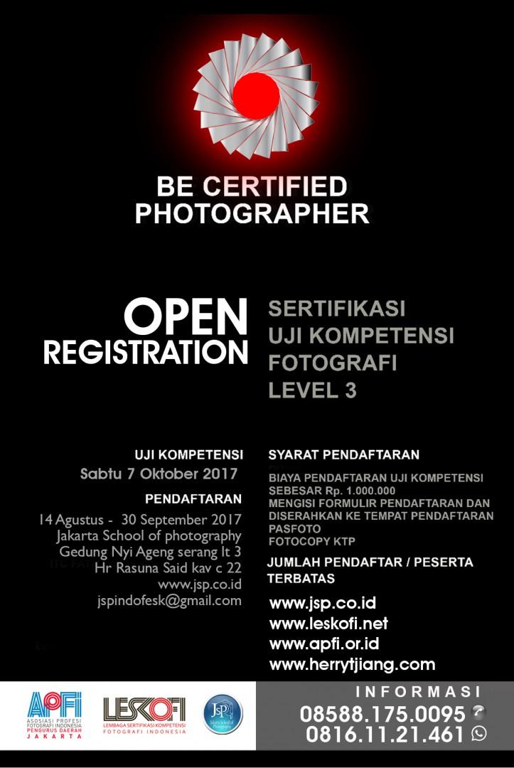 sertifikasi fotografi 2017