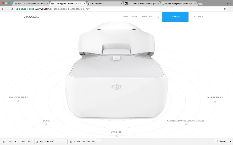 dji goggles dipakai untuk drone apa saja