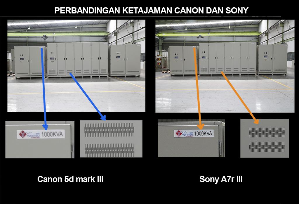 Perbandingan canon 5d dan sony A7R3