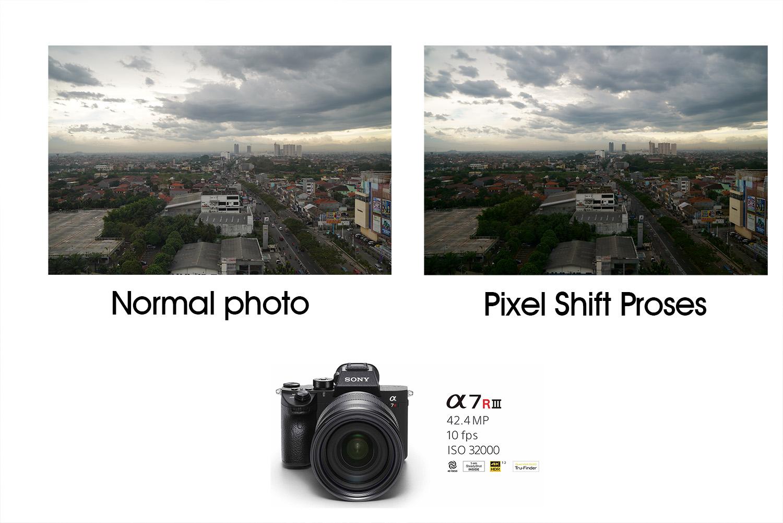 hasil pixel shift sony A7r3