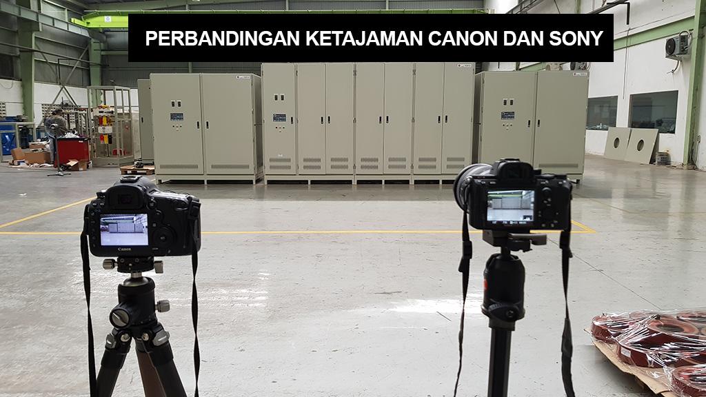 perbandingan sony dan canon