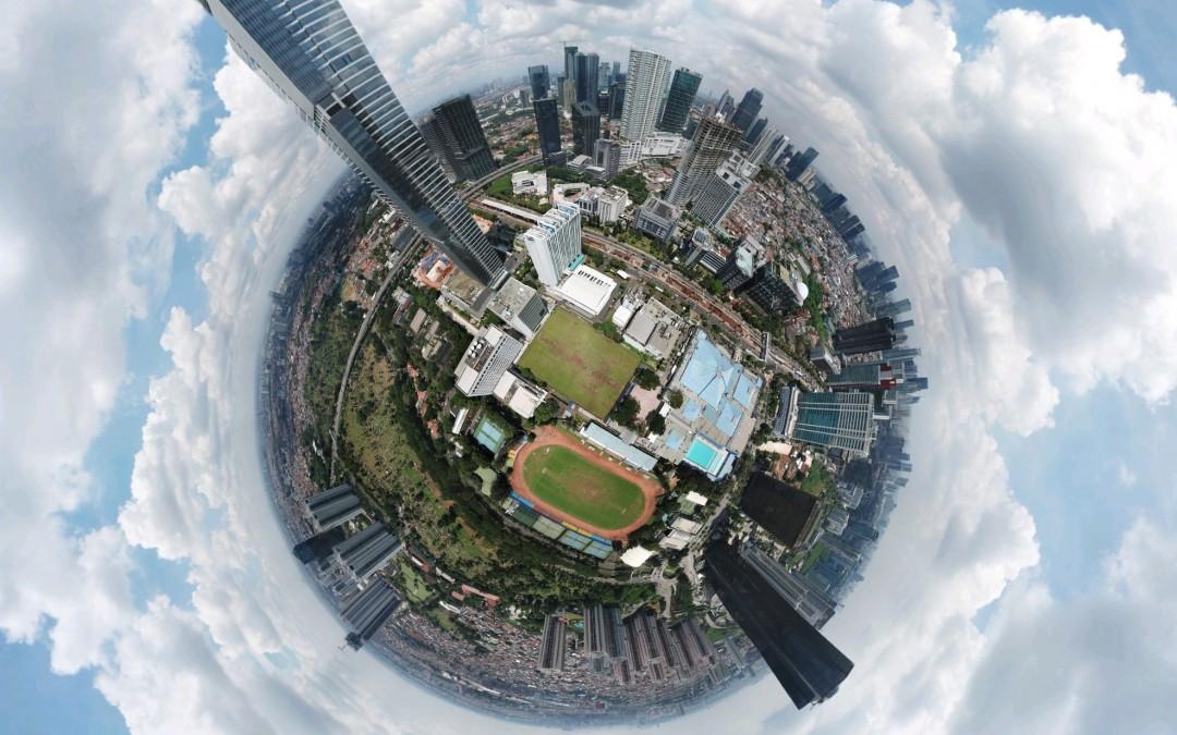 Membuat foto 360 derajat dengan drone